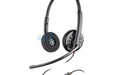Słuchawki call center przewodowe z redukcją szumu.
